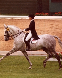 Sissy Max-Theurer and Mon Cherie in 1980 at the CHIO Aachen: Second place behind Dr. Uwe Schulten-Baumer/GER on Slibowitz