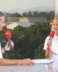 Four years before, at the Olympic Games in Athens/GRE, I was interviewed by an ORF reporter.