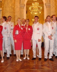 We were fitted out with clothing for the 2008 Olympic Games in Hong Kong/HKG in Vienna.